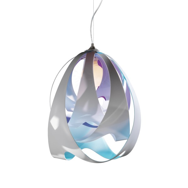 Slamp Goccia Suspension, opal (weiß/blau)