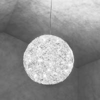Fil de Fer Pendelleuchte, Ø: 30 cm, Aluminium