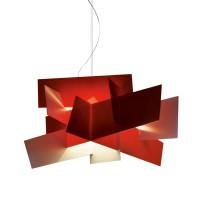 Big Bang LED Sospensione, rosso (rot)