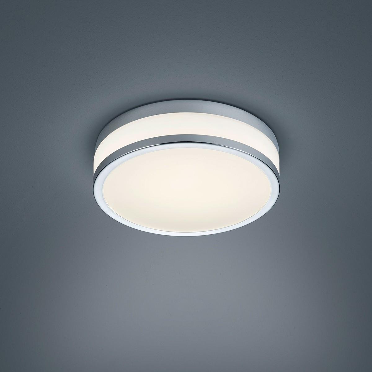 Helestra Zelo LED Deckenleuchte, rund, Ø: 29 cm, Chrom / Opalglas