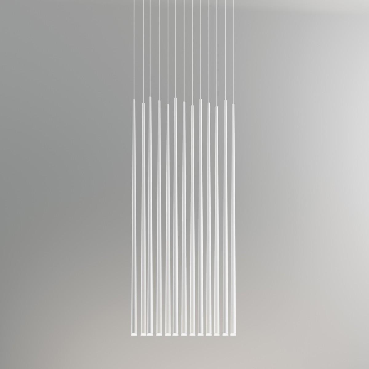 Vibia Slim 0937 Pendelleuchte, Carbonfaser schwarz