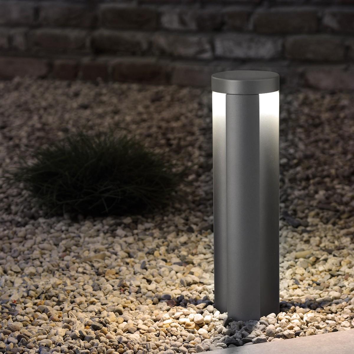 Lupia Licht Statia Pollerleuchte, Höhe: 25 cm, anthrazit