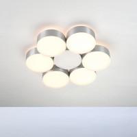Bopp Touch LED Deckenleuchte 6-flg., rund, Aluminium geschliffen