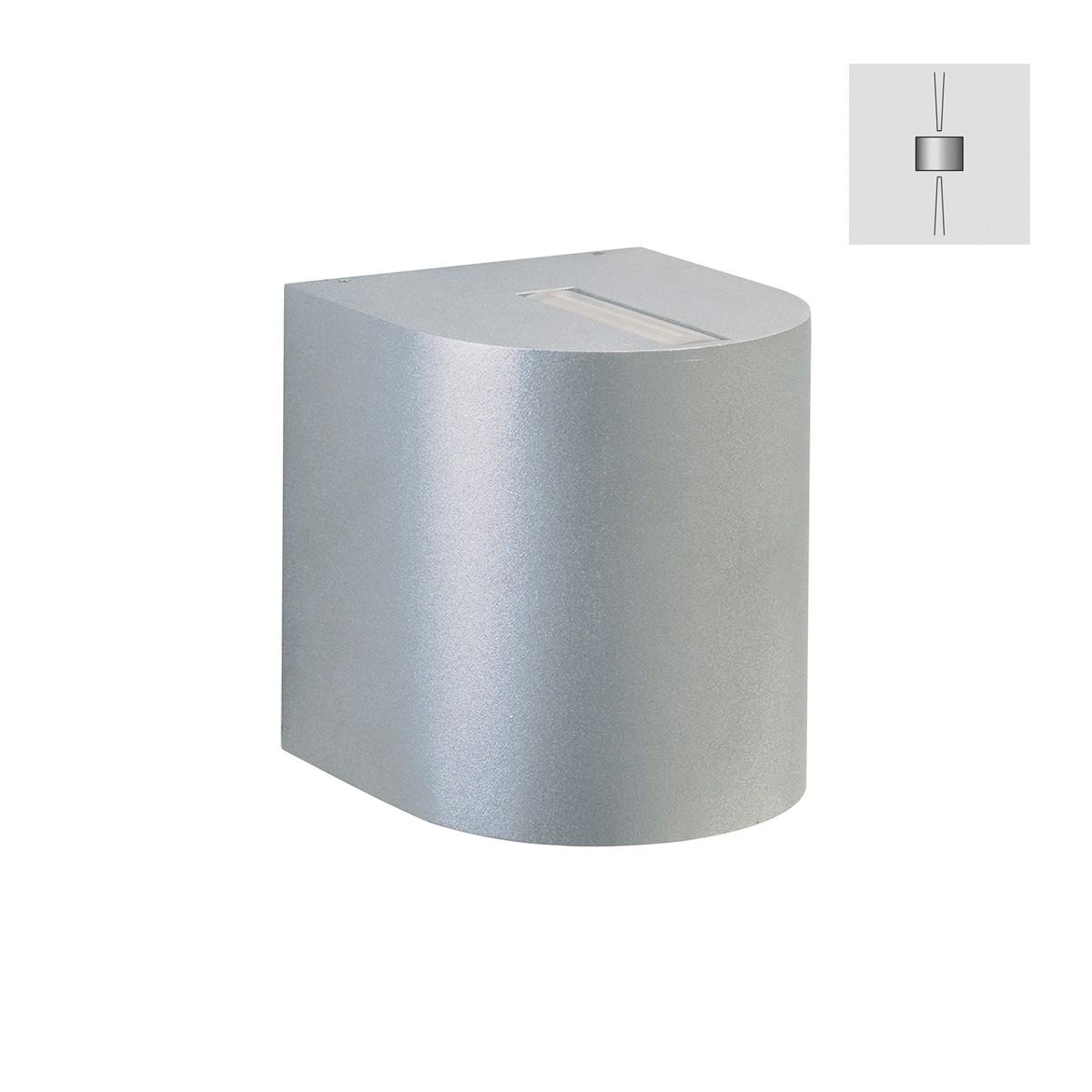 Albert 2400 Wandstrahler, eng/eng, Silber