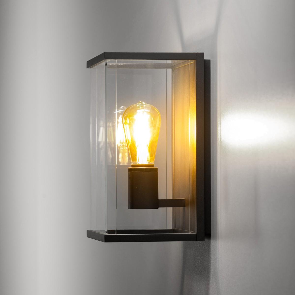 Lupia Licht Vetro W Außenwandleuchte, 1-flg., anthrazit