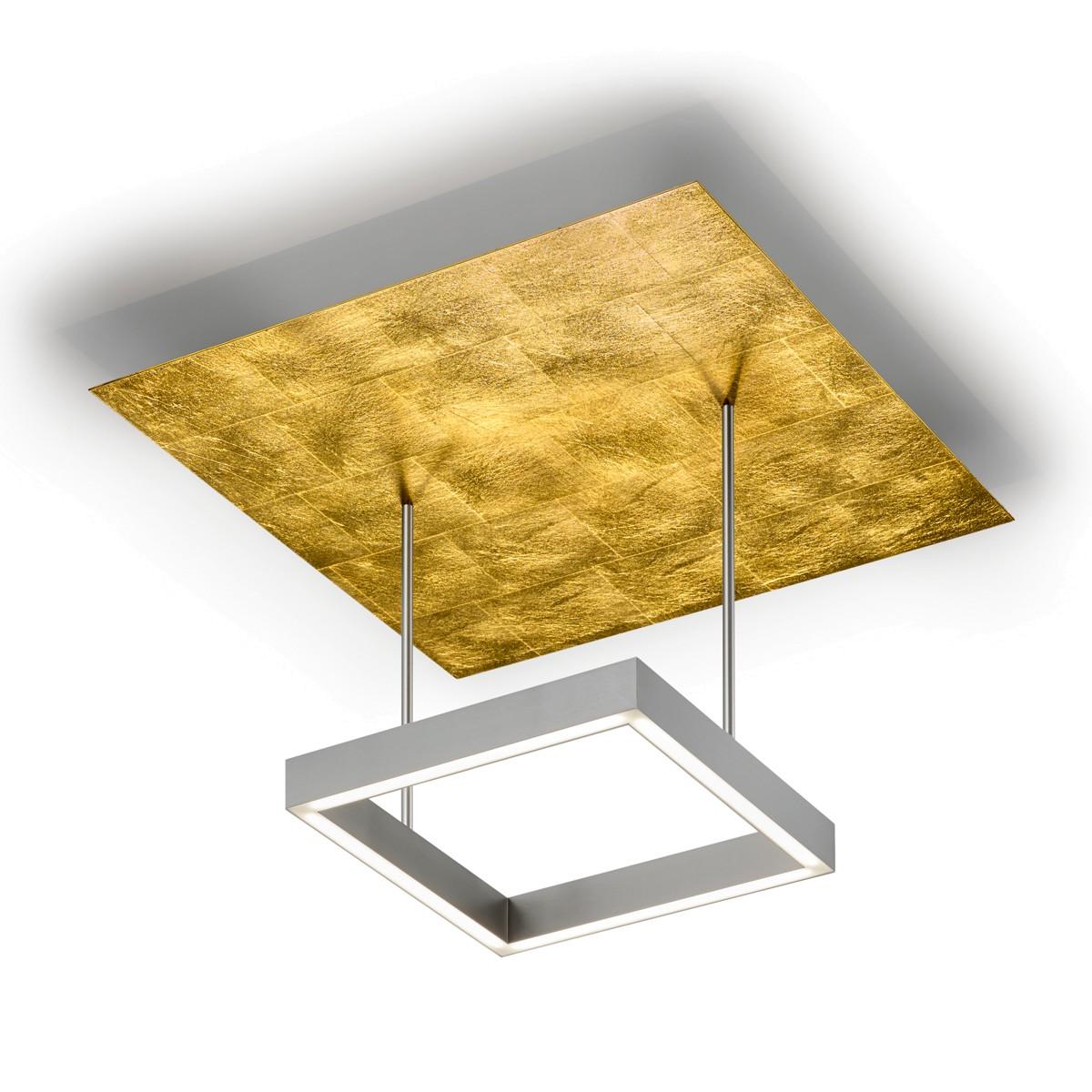 Knapstein 91.341 Deckenleuchte, Nickel matt / Blattgold