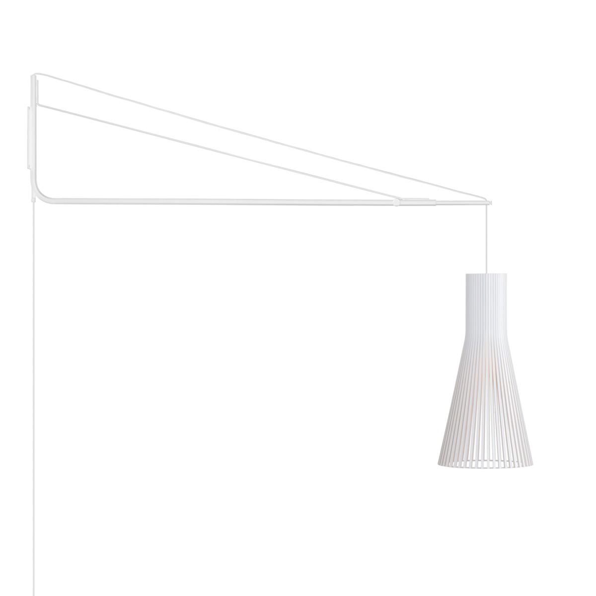 Secto Design Varsi 1000 Wandleuchte mit Secto 4200, weiß, Schirm: weiß laminiert