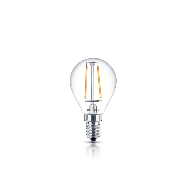 Philips LED Lampe E14 2,3 W, warmweiß, klar