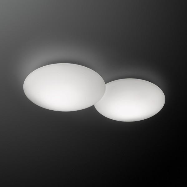 Vibia Puck LED Deckenleuchte, 2-flg., weiß