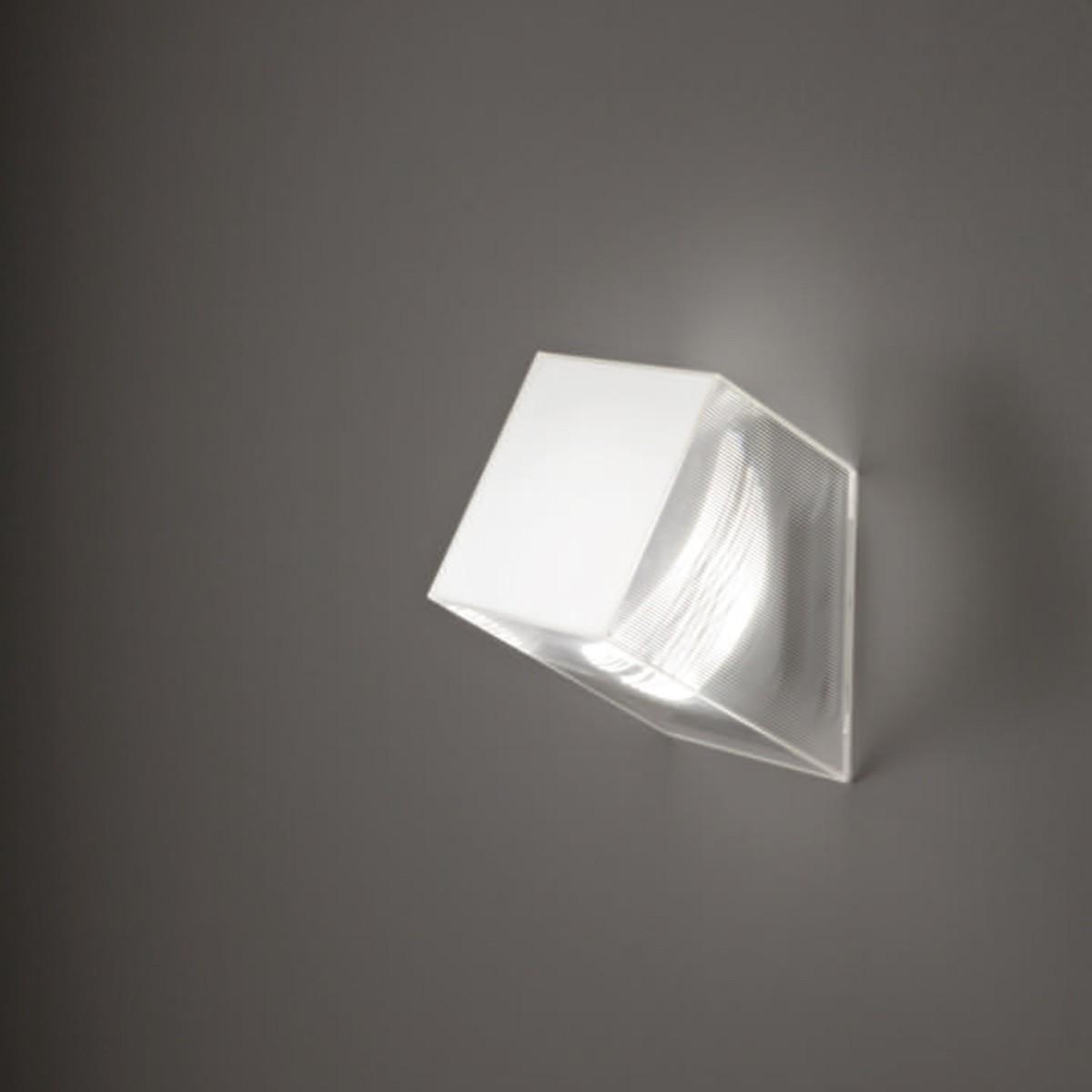 Studio Italia Design Beetle 60° Cube Wand- / Deckenleuchte, Mini, weiß / transparent