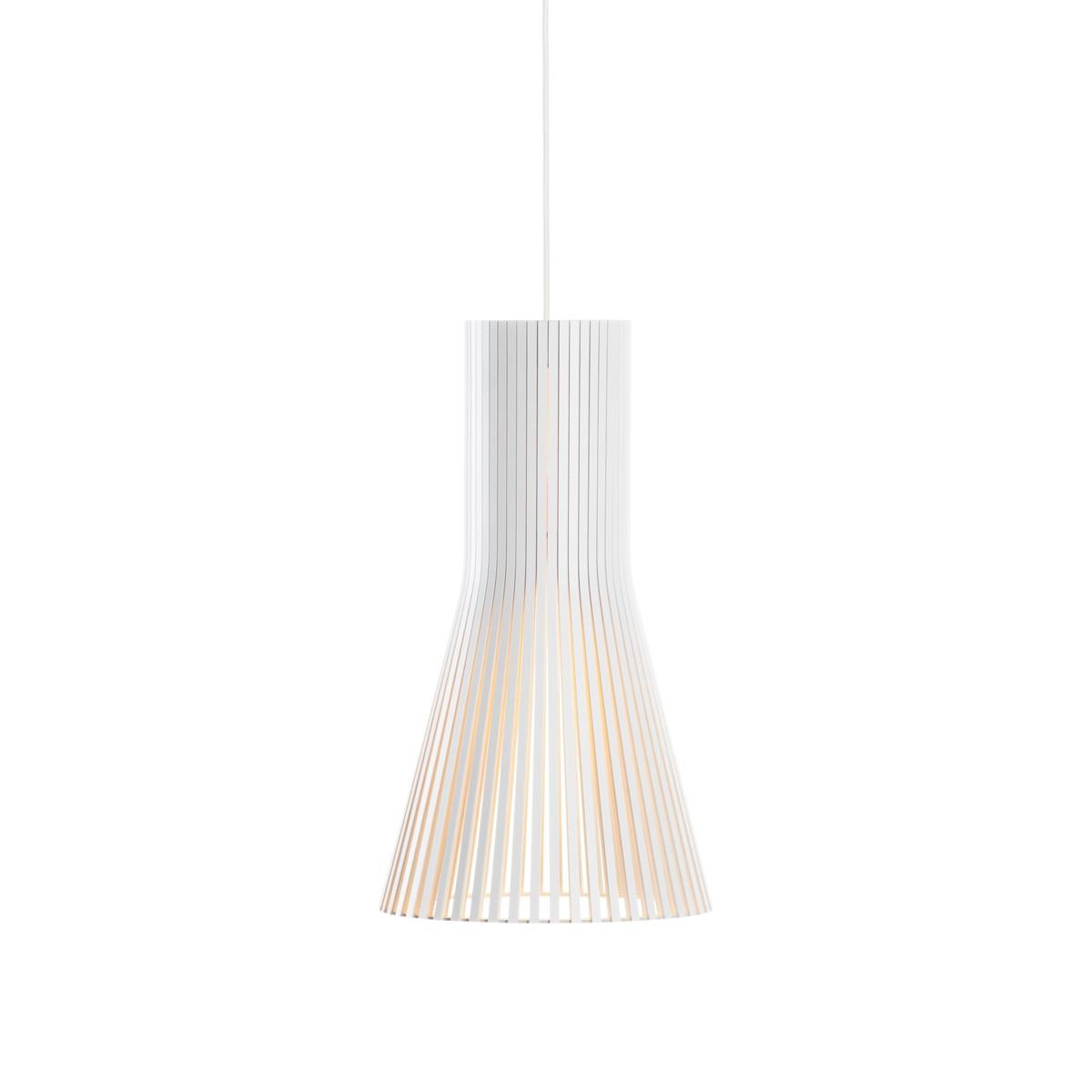 Secto Design Secto 4201 Pendelleuchte, weiß laminiert, Kabel: weiß