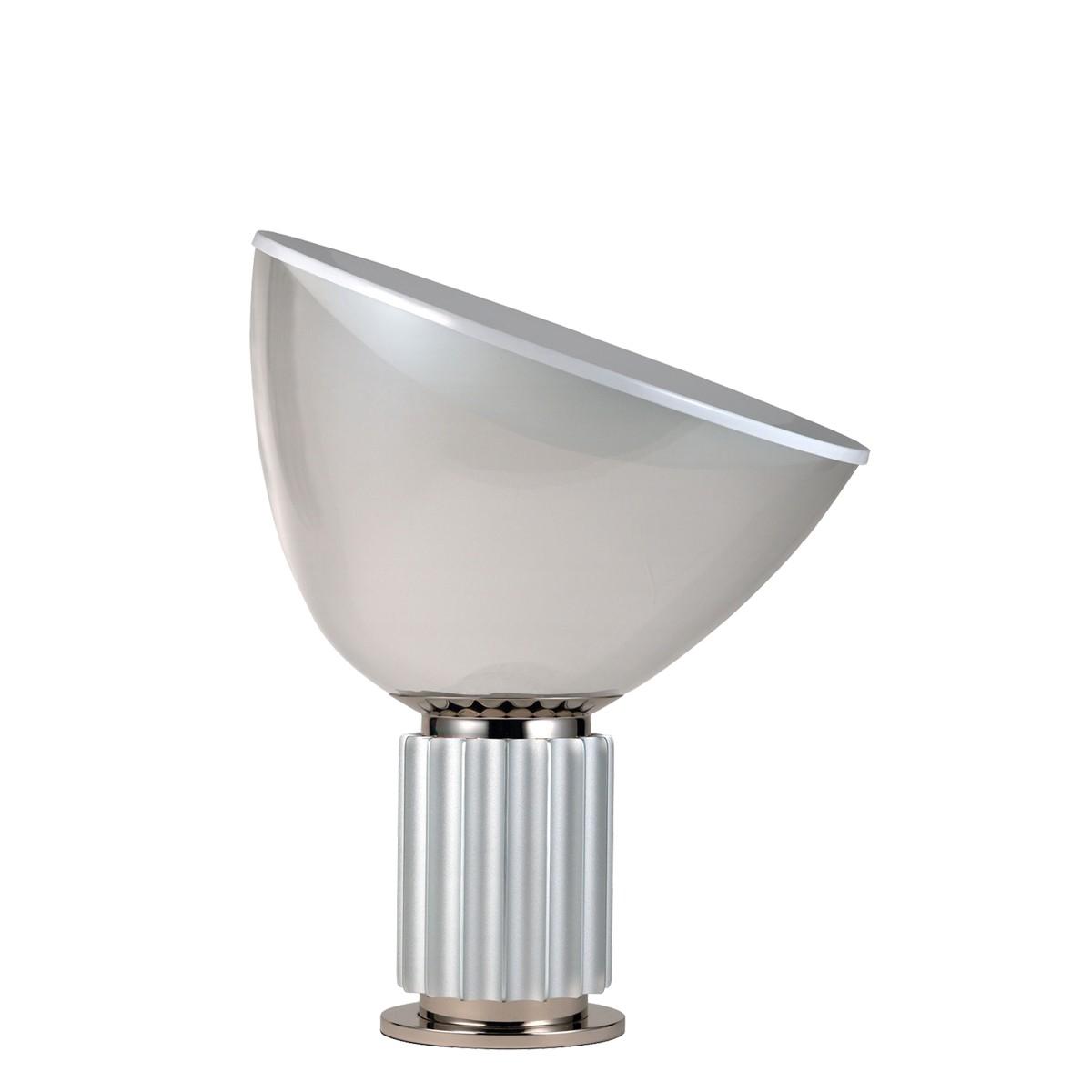 Flos Taccia Small Tischleuchte, Silber eloxiert