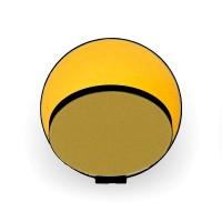 Gravy Wandleuchte, schwarz, Front: Honeydew-Filz