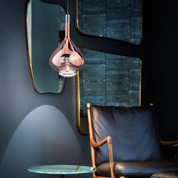 Studio Italia Design Sky-Fall Medium Pendelleuchte, Chrom / Roségold