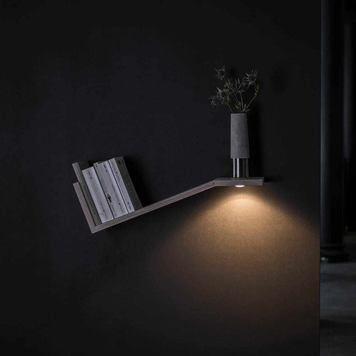 less 'n' more Kippling Bücherregal mit Mimix LED Einbaustrahler KI-M