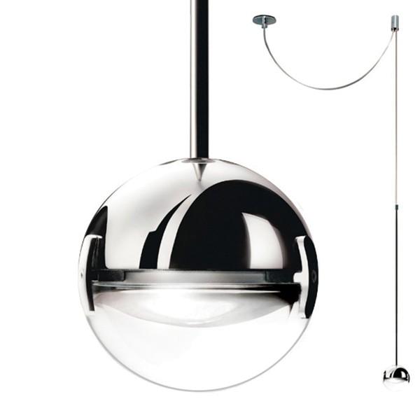 Cini & Nils Convivio new LED Sopratavolo Decentrata, Chrom, Linse transparent