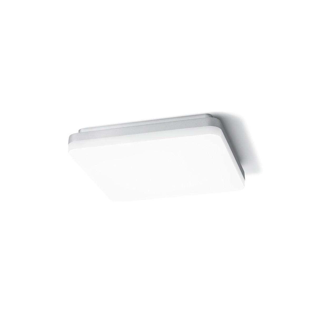 Sigor Square LED Deckenleuchte IP44, 4000 K, Silber
