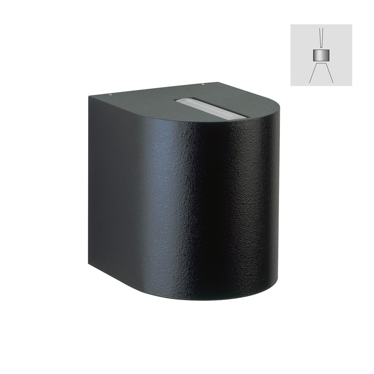 Albert 2401 Wandstrahler, eng/breit, schwarz