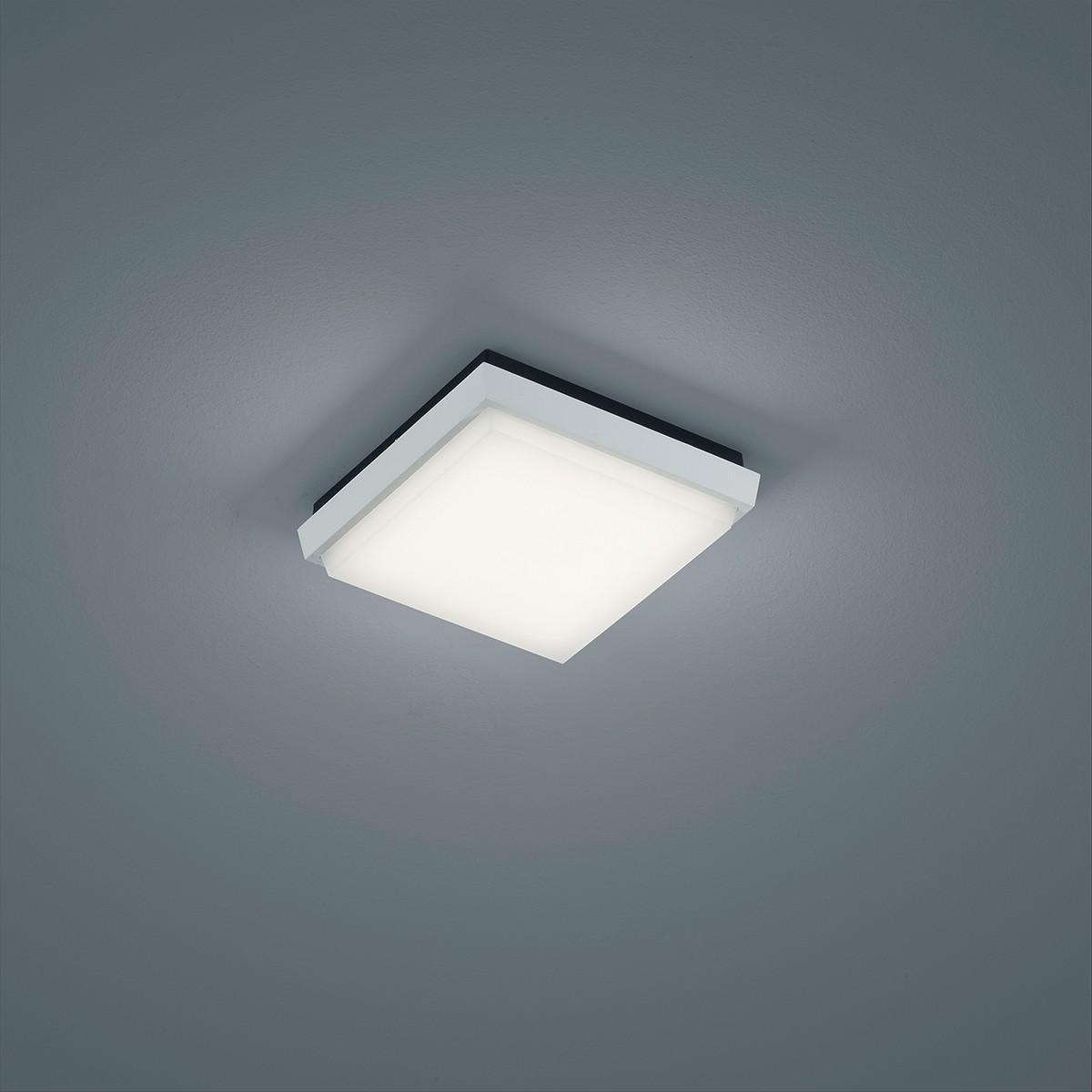 Helestra Sola LED Deckenleuchte, 17,5 x 17,5 cm, weiß matt
