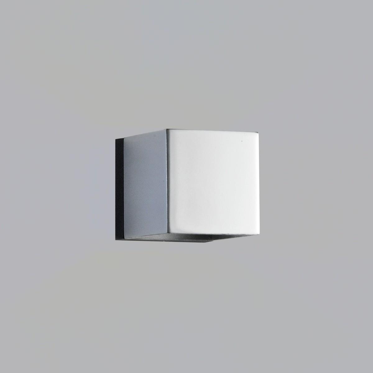 Milan Mini Dau LED Wandleuchte, 1. Generation, Chrom / mattschwarz