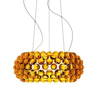 Caboche Media LED Sospensione, giallo oro (goldgelb), dimmbar