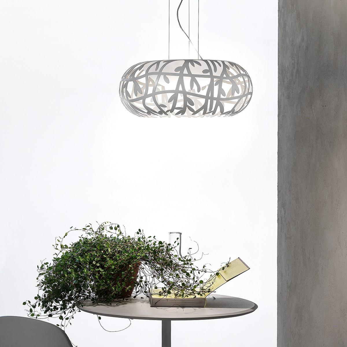 Studio Italia Design Maggio Pendelleuchte, weiß matt