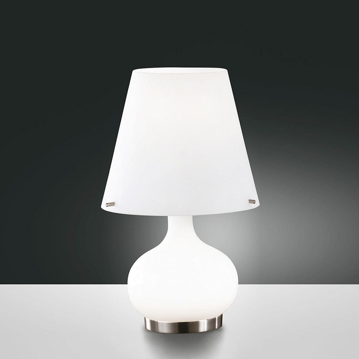 Fabas Luce Ade Tischleuchte, Höhe: 33 cm, weiß