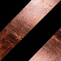 Lederam C180 Deckenleuchte, schwarz/Kupfer, Stange: schwarz, Scheibe: Kupfer
