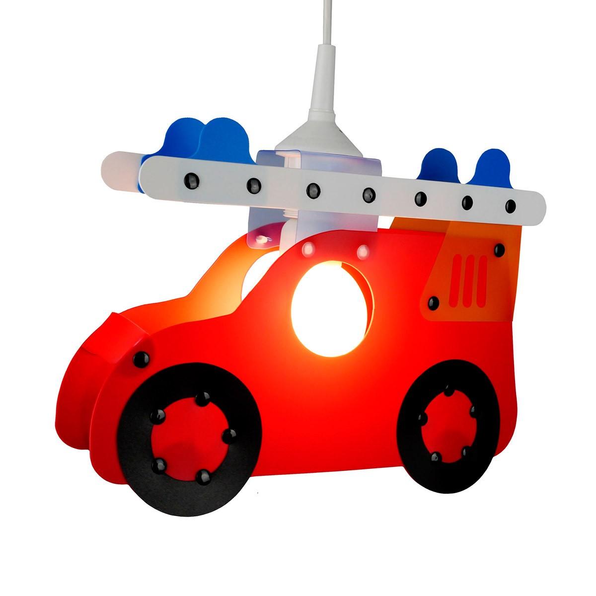 Niermann Standby Feuerwehrauto Pendelleuchte, rot