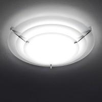 Milan Escala Deckenleuchte, rund, Ø: 32 cm, Glas satiniert