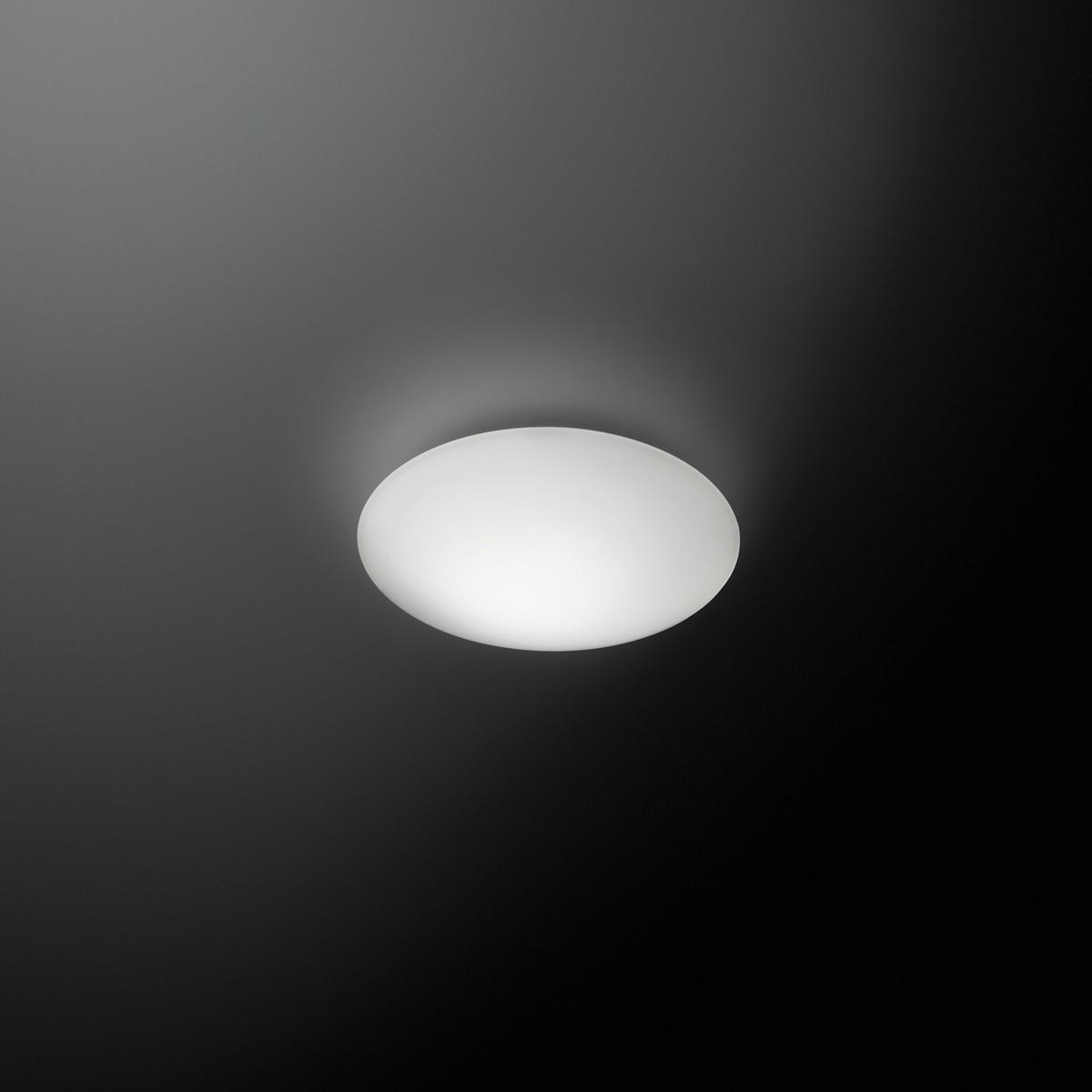 Vibia Puck Wand- / Deckenleuchte, 1-flg., Ø: 16 cm, weiß