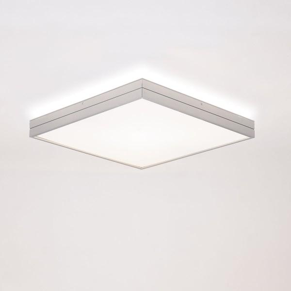 Milan Linea Deckenleuchte LED, 30 x 30 cm, Alu satiniert