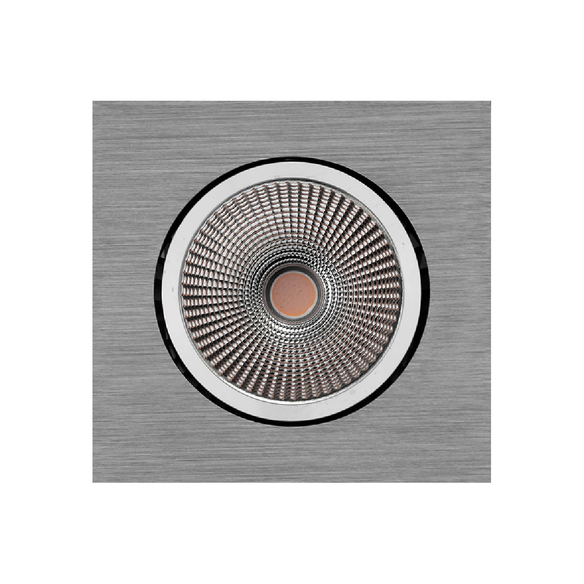 Mobilux MOBiDIM COB 12W Q Einbaustrahler, Dim-to-Warm, alu gebürstet, poliert