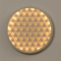 Milan, Loom LED Wandleuchte, Ø: 80,4 cm, Holz / nerzfarben
