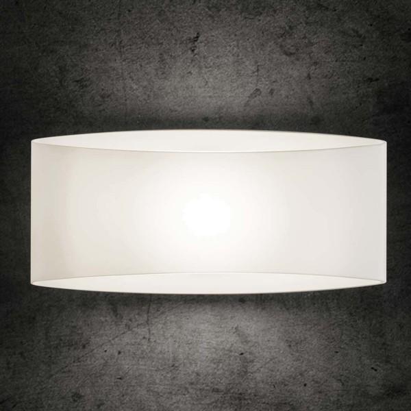 Holtkötter 850x Wandleuchte, Glas weiß, 25 cm