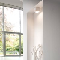 MyLight Kiel LED Deckenstrahler, weiß, innen: kaffeefarben