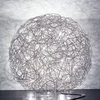 Fil de Fer Bodenleuchte, Ø: 90 cm, Aluminium, nicht dimmbar