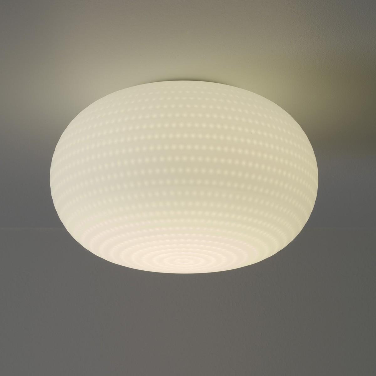 Fontana Arte Bianca LED Wand- / Deckenleuchte, Ø: 30 cm, weiß satiniert