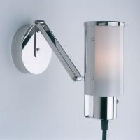 Tecnolumen Wagenfeld Mehrzweckleuchte, Gestell: Nickel, Schirm: Opalglas (Anwendung als Wandleuchte)