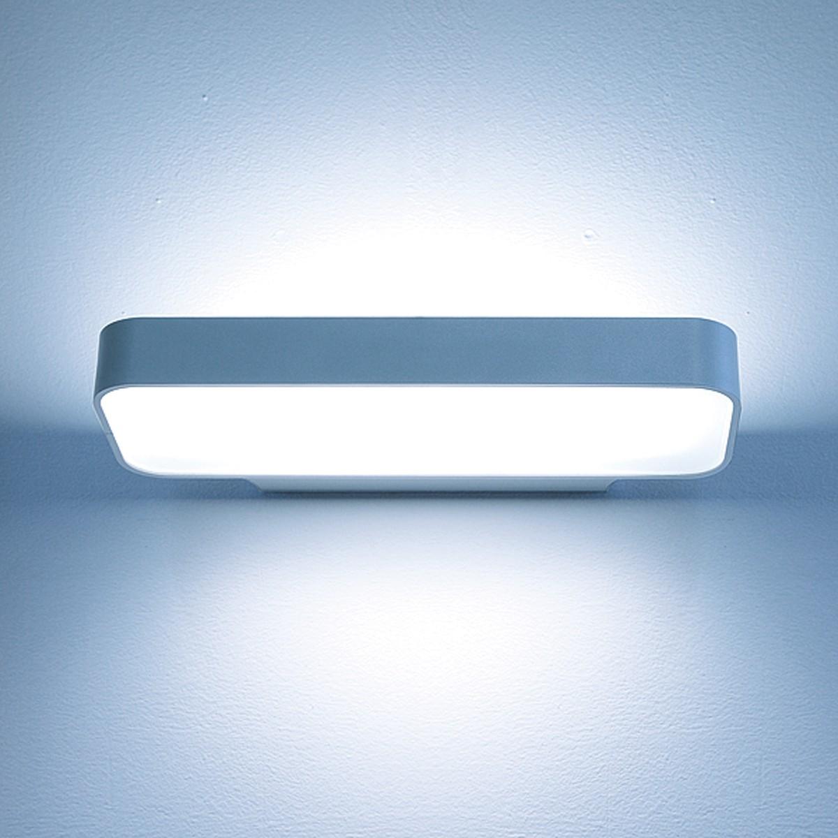 Lightnet Caleo-W3 Wandleuchte, Mikroprismatik, Breite: 32 cm, Silber matt