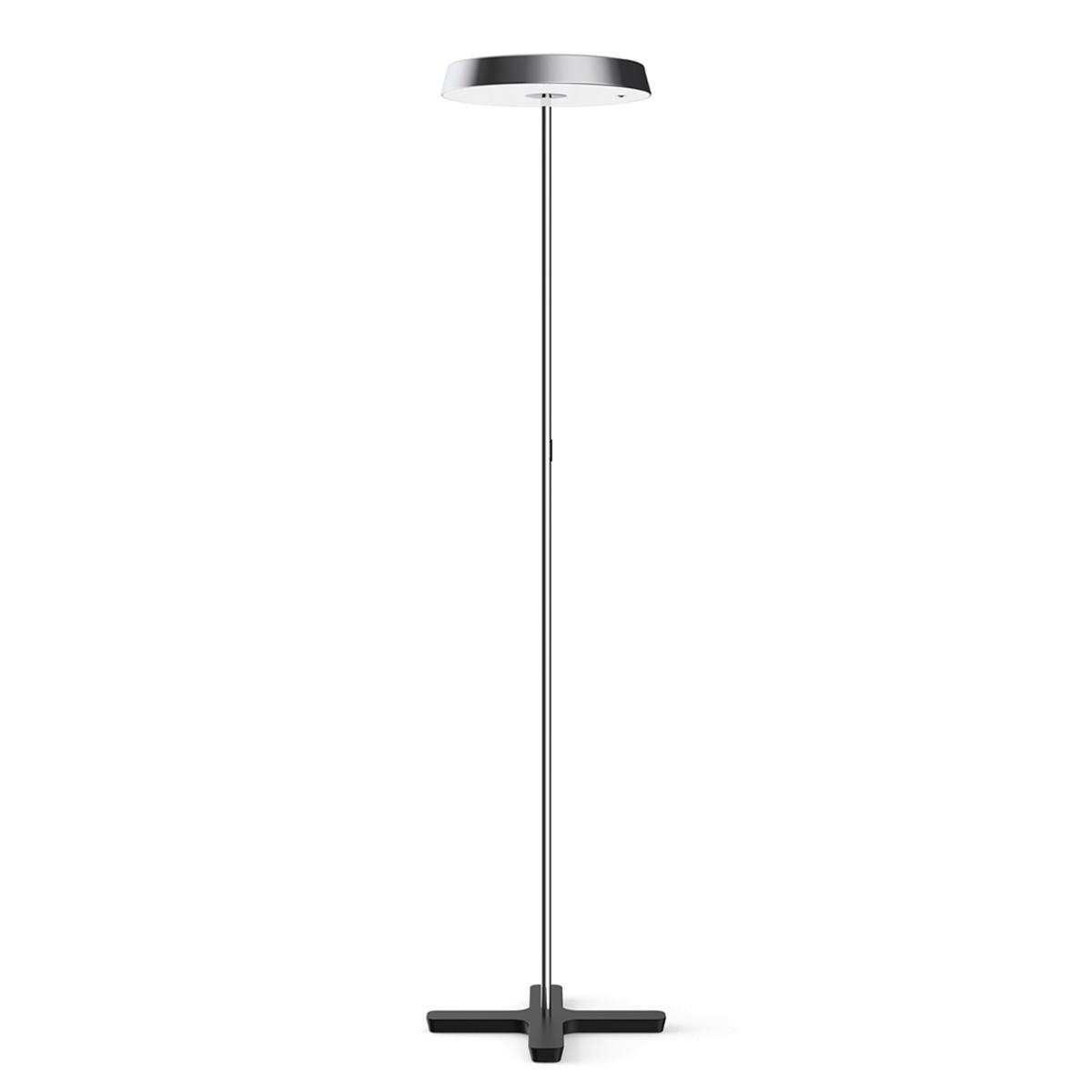 Belux Koi-S LED Stehleuchte, mit Dimmer, 3000K, Chrom / schwarz