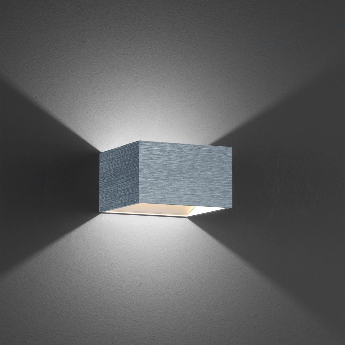 B-Leuchten Cube Wandleuchte, Palladium eloxiert
