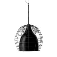Cage Grande Sospensione, Gitterstruktur: schwarz, Glas: schwarz
