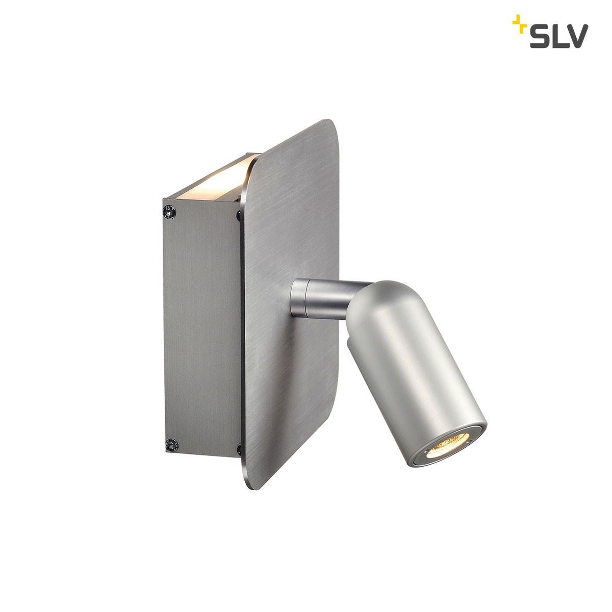 SLV Napia Wandleuchte, Aluminium gebürstet