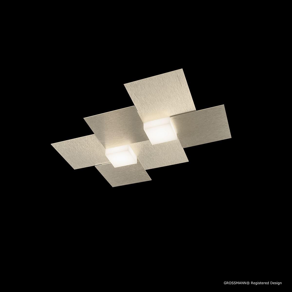 Grossmann Creo LED Wand- / Deckenleuchte, champagner, 33 x 38,5 cm