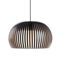 Secto Design Atto 5000 Pendelleuchte, schwarz laminiert, Kabel: schwarz