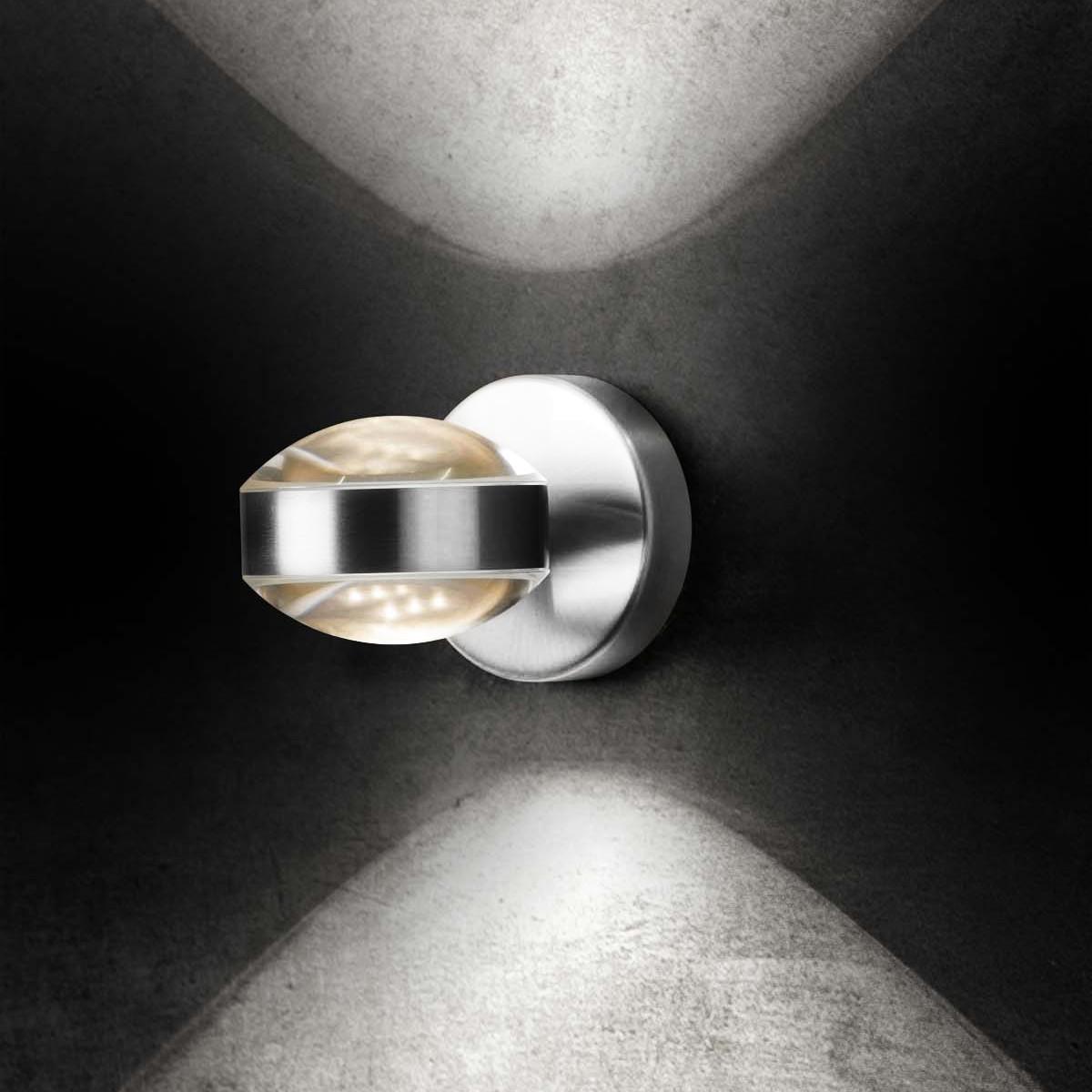 Holtkötter Leuchten Lence Wandleuchte, Aluminium poliert