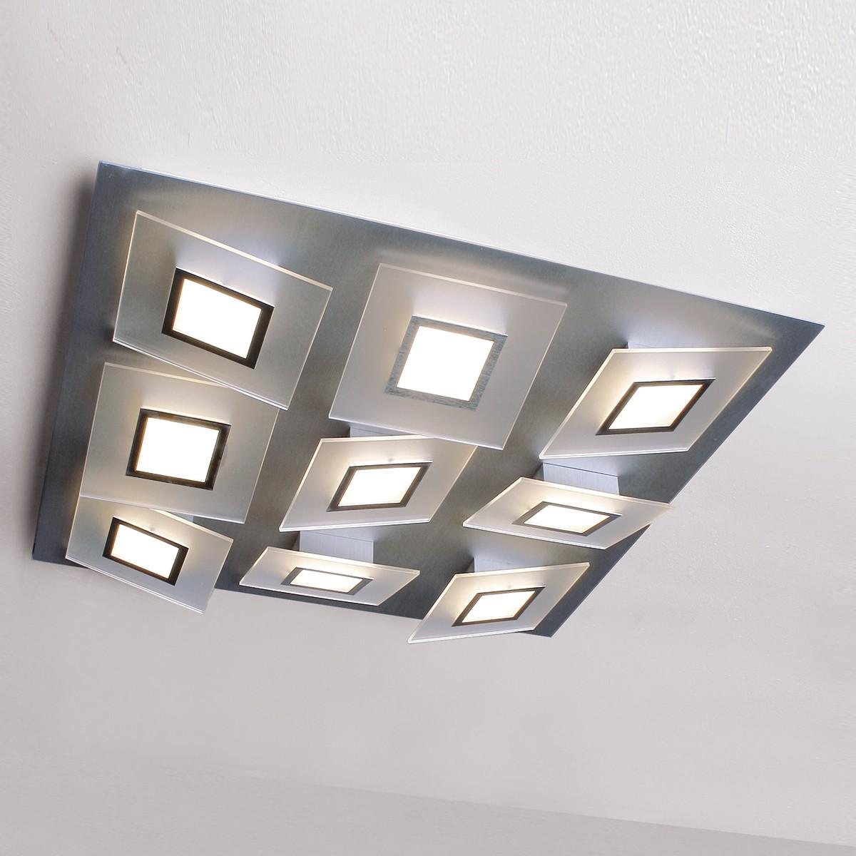 Bopp Frame LED Wand- / Deckenleuchte 9-flg., Aluminium