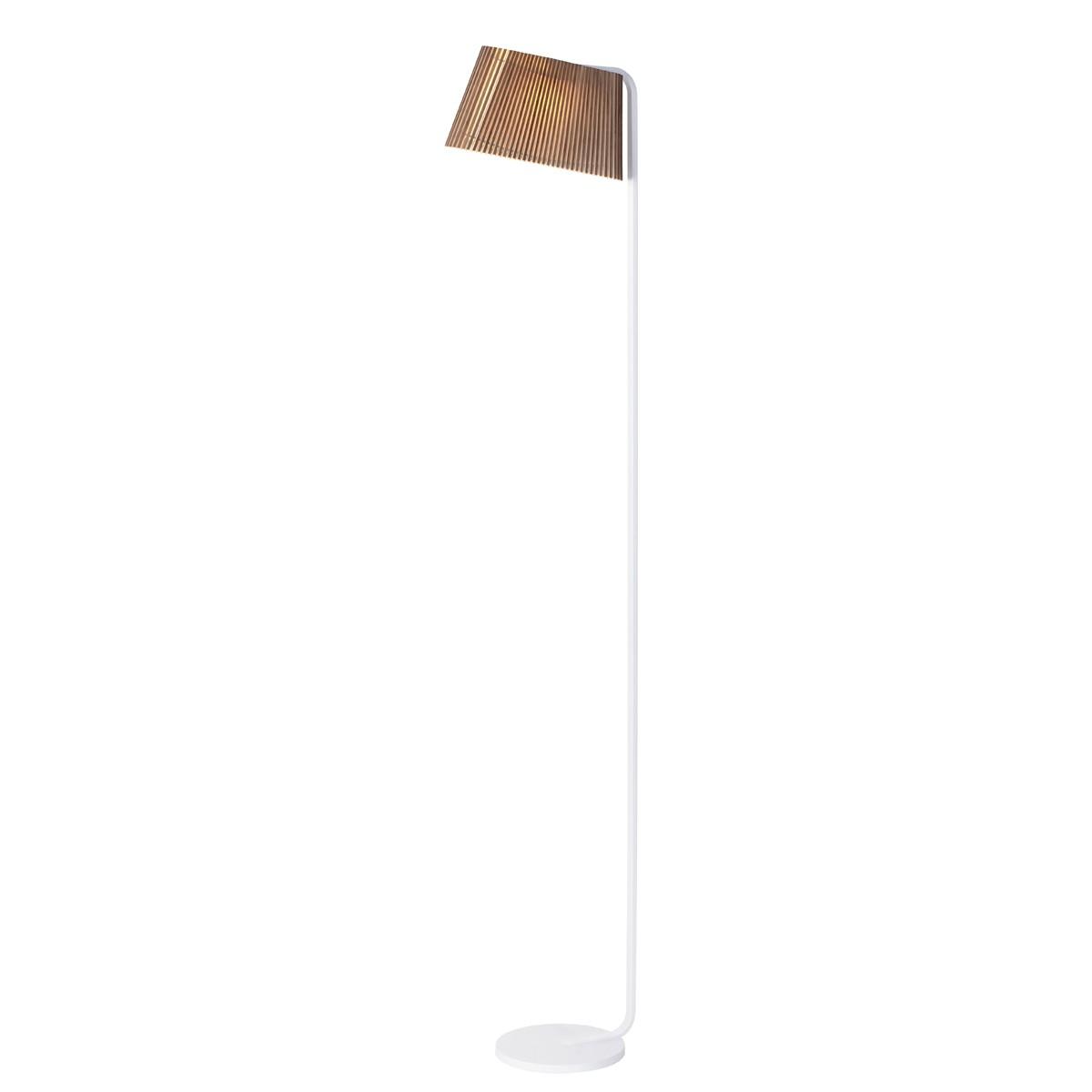 Secto Design Owalo 7010 Stehleuchte, weiß, Schirm: Walnussfurnier