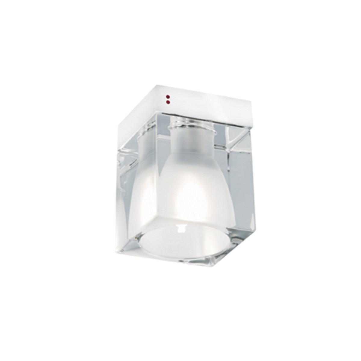 Fabbian Cubetto Wand-/ Deckenleuchte, G9, transparent - weiß